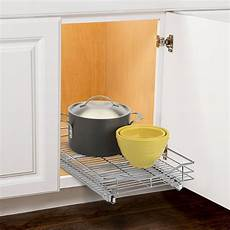 roll out cabinet organizer 14 inch in pull out baskets