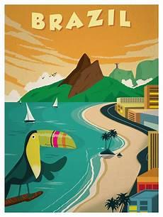 retro plakat ideastorm studio store vintage brazil poster