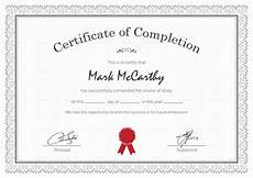 Certificate Of Successful Completion Simple Certificate Of Completion Design Template In Psd Word