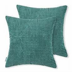 calitime pack of 2 comfy throw pillow covers