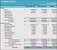 Income Statement Excel Format How To Prepare An Income Statement 5 Free Templates