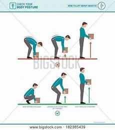 Correct Lifting Technique For Light To Medium Weight Proper Lifting Technique Body Vector Amp Photo Bigstock