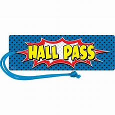 Hall Passes Superhero Magnetic Hall Pass Tcr77273 Teacher Created