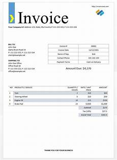 How To Write A Invoice For Freelance Work Format Of An Invoice Free Invoice Template For Wedding