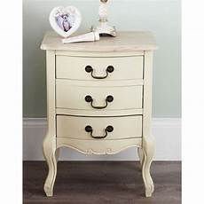 juliette painted shabby chic bedside table with 3