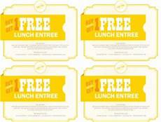 Free Lunch Coupon Template Cafe Coupon Template Marketing Archive