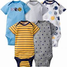 3 6 months baby boy clothes gerber newborn boys 5 pack onesies sports striped