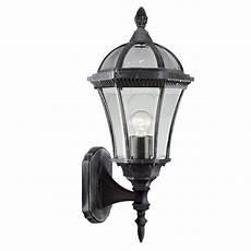 Searchlight Outdoor Lights Searchlight 3665 Capri Black Silver Outdoor Wall Light