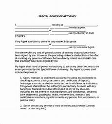 Special Power Of Attorney Sample Free 8 Sample Special Power Of Attorney Forms In Pdf Ms