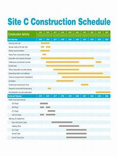 Residential Construction Scheduling 24 Construction Schedule Examples In Pdf Excel Ms