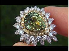 GIA Certified UNHEATED Natural Green Yellow Sapphire
