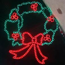 Outdoor Christmas Wreaths With Led Lights Large 44 Quot Led Christmas Wreath Lighted Display Large