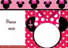 Minnie Mouse Birthday Invitations Free Free Minnie Mouse Polka Dot 1st Birthday Invitation