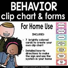 Home Use Behavior Chart Behavior Chart And Forms Home Use By Bright Concepts 4