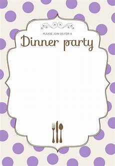 Dinner Invites Templates Free Free Printable Classic Dinner Party Invitation Dinner