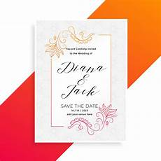 Design Invite Lovely Floral Wedding Invitation Card Design Template