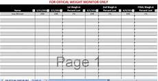 Weight Tracking Spreadsheet Biggest Loser Excel Weight Loss Tracking Spreadsheet