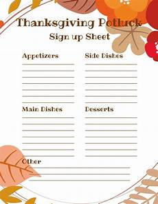 Pot Luck Sign Up Thanksgiving Potluck Sign Up Sheet Just What We Eat