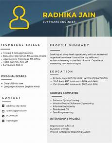 Attractive Resume Format For Freshers The Best 2019 Resume Samples For Freshers Career Guidance