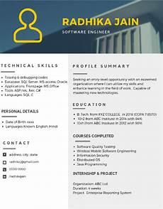 Resume Formats For Freshers The Best 2019 Resume Samples For Freshers Career Guidance