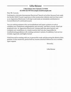 Electrician Apprentice Cover Letters Best Apprentice Electrician Cover Letter Examples Livecareer