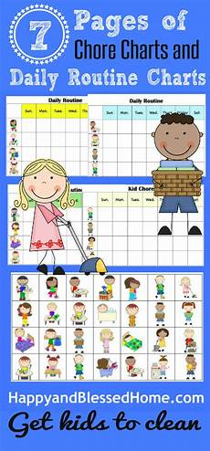 Chore Chart Pictures 10 Minutes To Clean And Free Printable Chore Charts For Kids
