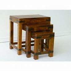 Jali Solid Sheesham Indian Rosewood Nest Of 3 Tablessolid by Indian Jali Nest Of Tables Solid Sheesham Rosewood By