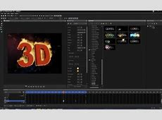 1 3D effects include particles, video textures, fire and