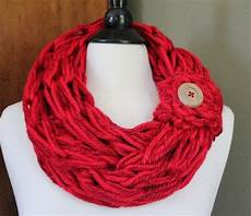 blend arm knit scarf with button cuff arm knitting