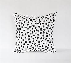 dalmatian pillow cover black spotted decorative pillow