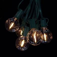 Led Filament String Light Set G40 Led Filament Clear String Light Set With Green Wire