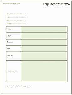 Business Trip Report Template Word Trip Report Memo Template For Business Trips