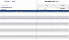 Construction Bill Template Bill Of Materials Template Free Excel Tmp