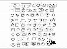 BATHROOM SINKS BUNDLE   FREE CADS