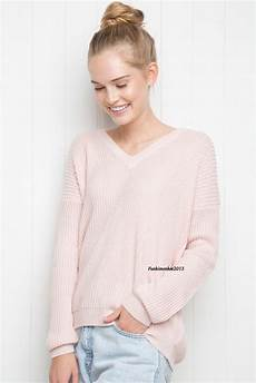 Melville Light Blue Sweater Melville Pastel Pink Light Weight V Neck Cable Knit