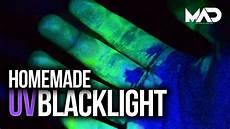 How To Make A Black Light Shirt How To Make A Uv Black Light Easy Youtube