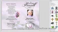 How To Make A Funeral Program Quick Overview Editing Our Funeral Template Youtube