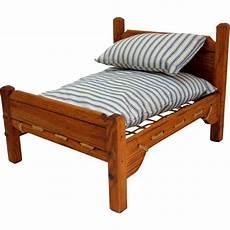 rope doll bed with mattress pillow wooden mattress