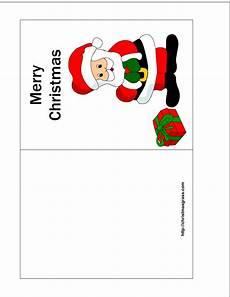 Printable Christmas Card Templates Free Printable Christmas Card With Charming Santa