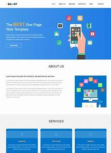 Single Page Website Templates One Page Free Website Template By Webthemez