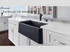 Ikon Farmhouse Kitchen Sink Collection   The First Apron Front Sink Of It's Kind   YouTube