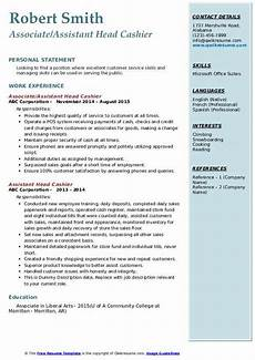 Cashiering Skills Assistant Head Cashier Resume Samples Qwikresume