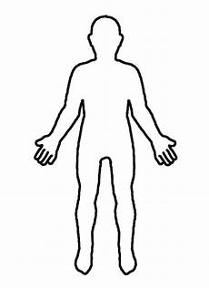 Outline Of Human Body Front And Back Outline Of A Person Drawing Clip Art Library