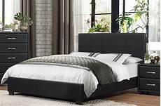 lorenzi black upholstered platform bed 2220f 1