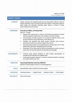 Guest Service Agent Resume Guest Service Officer Cv Ctgoodjobs Powered By Career Times