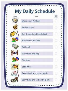 How To Make Schedules Free Blank Templates For Daily Schedule Chore Chart