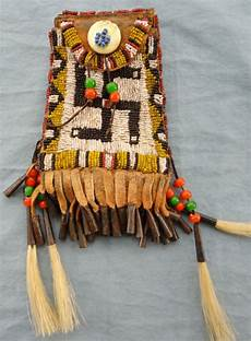 beadwork sioux beaded ogalala sioux strike a lite bag