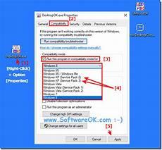 xp compatibility mode sp1 sp2 sp3 under windows 10