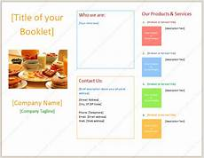 Booklet Template Word Booklet Template With Three Columns Dotxes