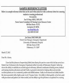 Sample Letter Of Recommendation For New Graduate Nurse Nursing Reference Letter Templates 12 Free Word Pdf